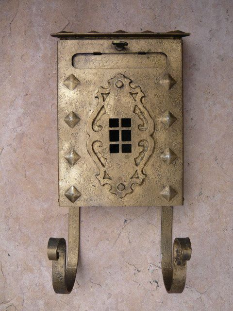 Very Decorative 1920s Mailbox With Newspaper Holder Etsy Vintage Mailbox Newspaper Holder Modern Mailbox