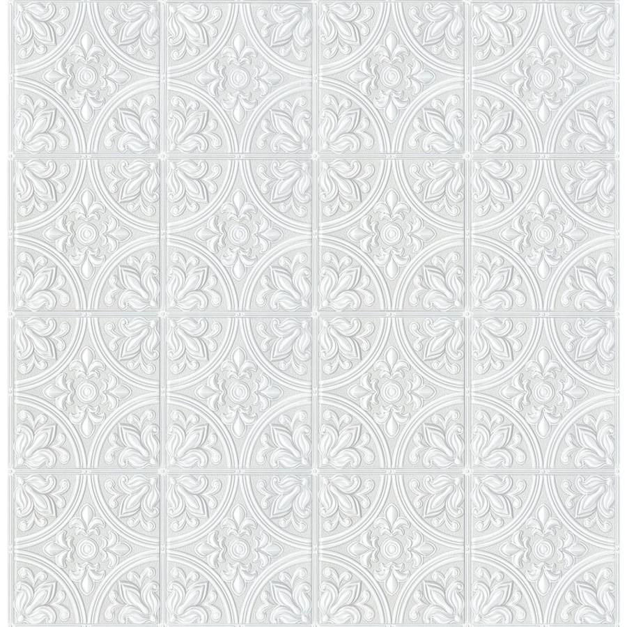 Scott Living 56 4 Sq Ft White Vinyl Paintable Textured Abstract 3d Prepasted Water Activated Paste Wallpaper Lowes Com Paintable Textured Wallpaper White Vinyl Paintable Wallpaper
