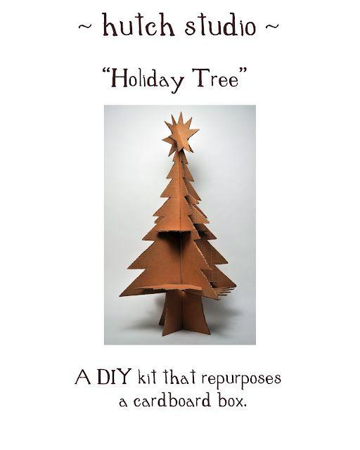 A Box A Tree Cardboard Tree Paper Decorations Tree
