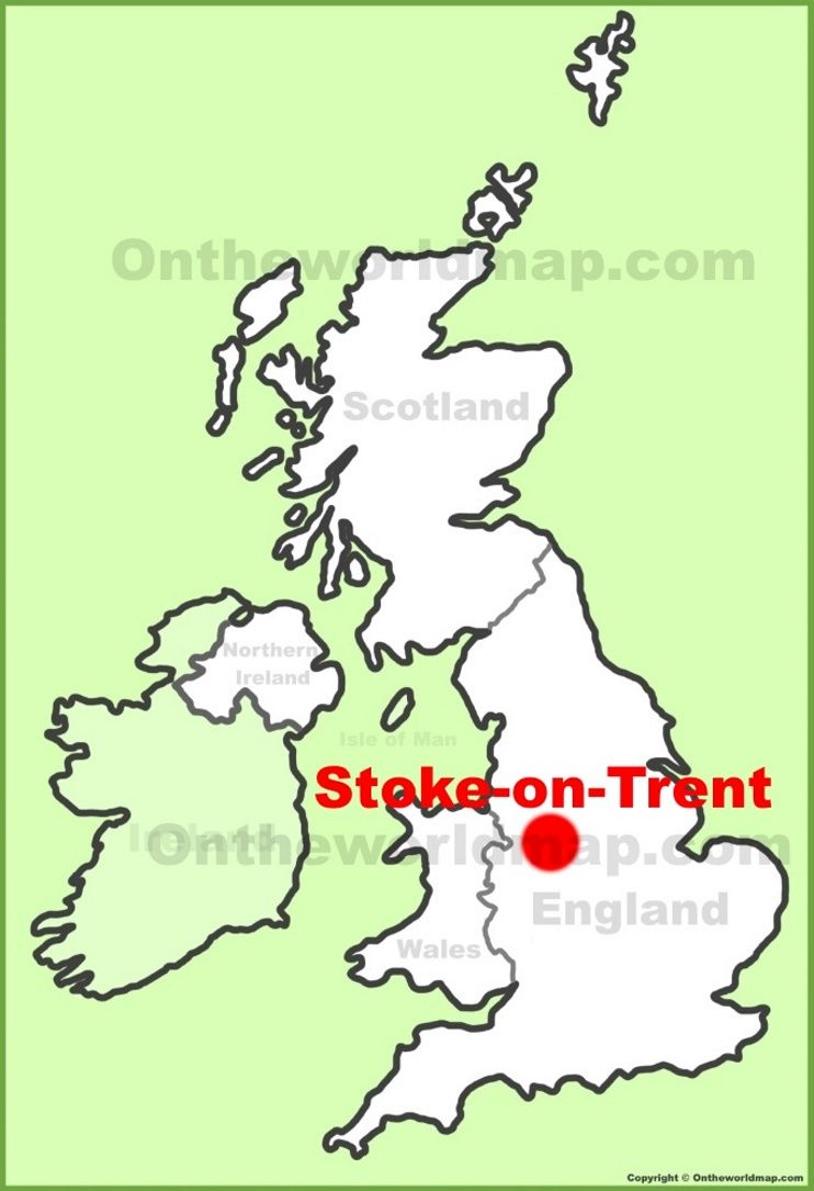 StokeonTrent location on the UK Map Maps Pinterest City
