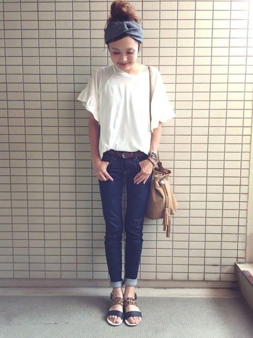 2015年 夏 ヘアバンド ターバン コーデ アレンジ ファッション ファッションコーディネート ファッションアイデア
