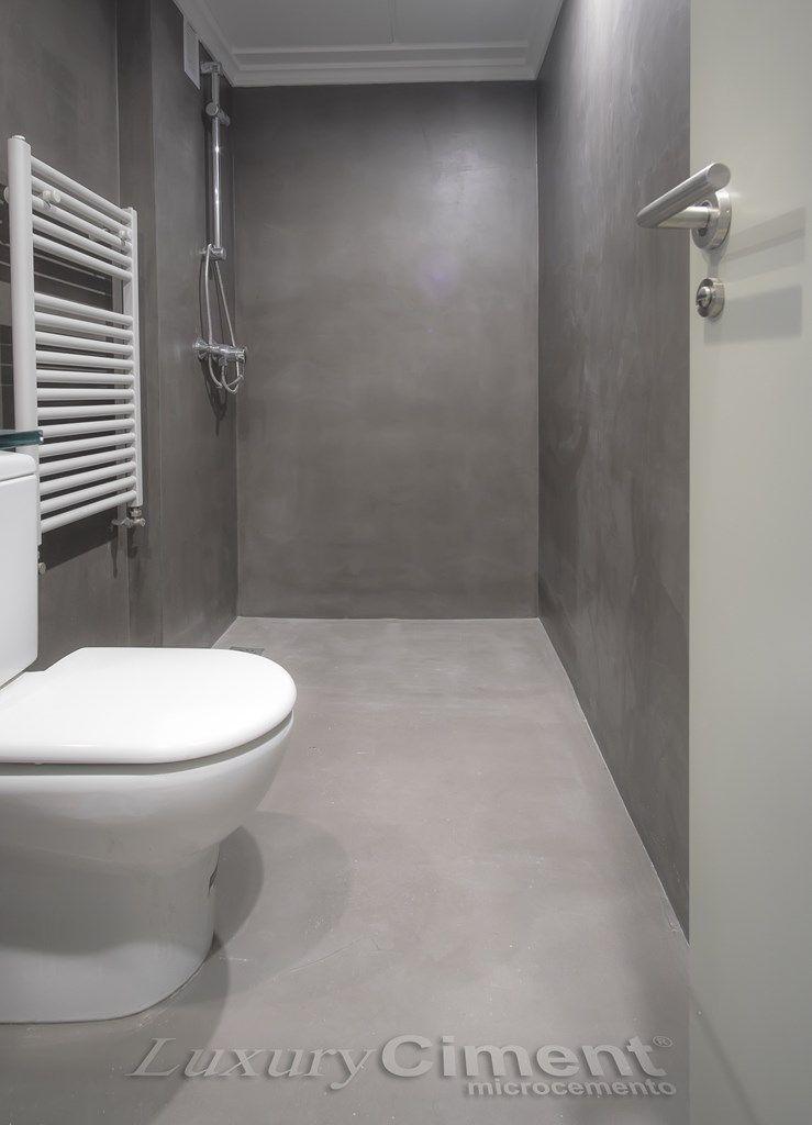 Revestimiento para ducha con microcemento luxuryciment - Revestimientos banos sin obra ...
