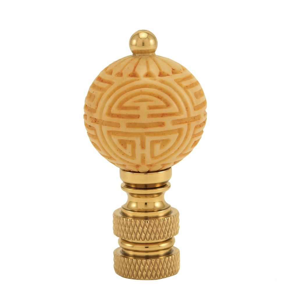 Mario Industries Ivory Ball Lamp Finial Cn2 The Home Depot Lamp Finial Ball Lamps Lamp