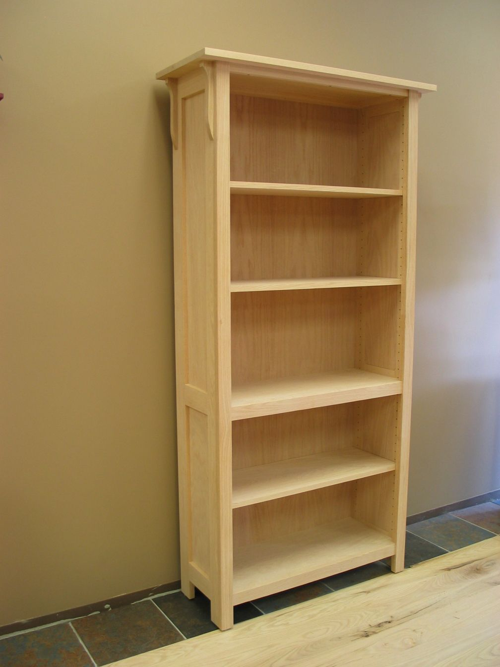 100 Unfinished Pine Bookcase
