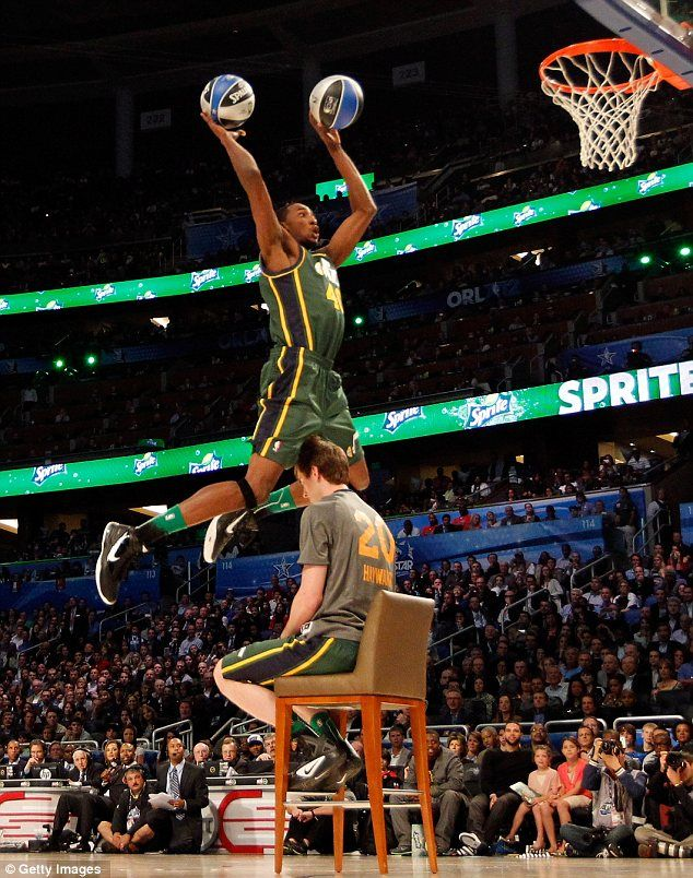NBA Slam Dunk Contest 2012 Basketball Stars Leap Over Teammates