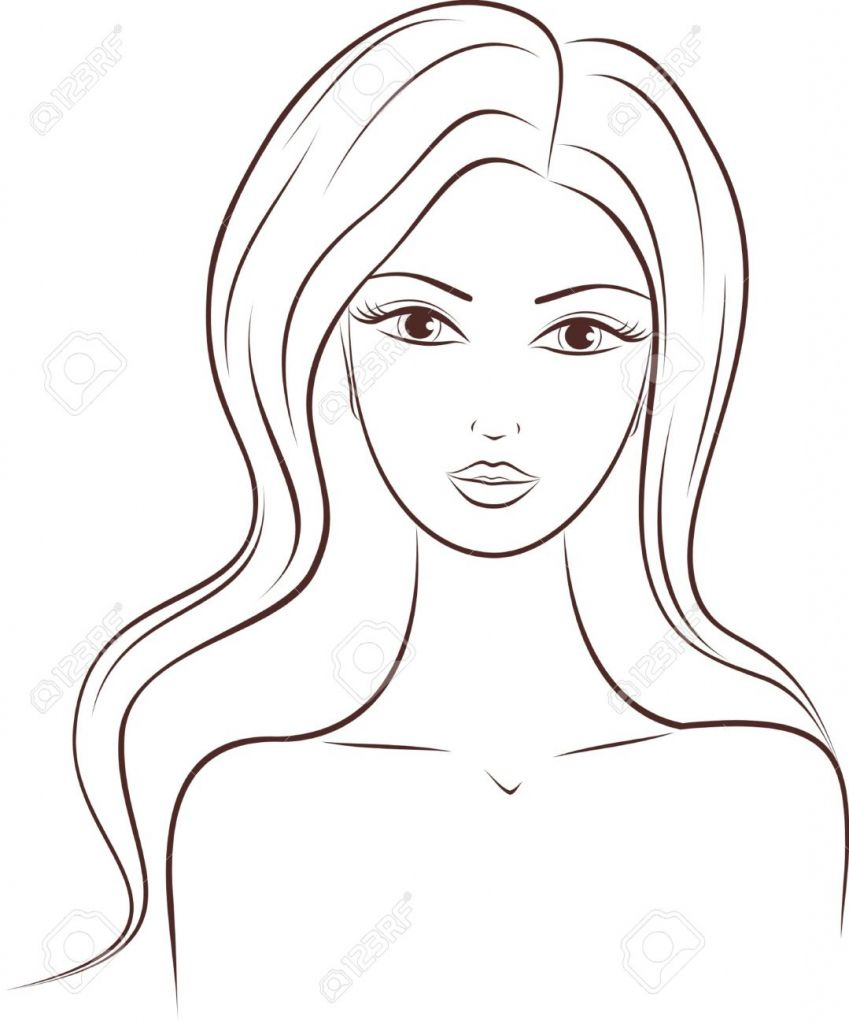 Female Face Drawing Outline Face Drawing Outline How To Draw A Female Face Drawing Outline Face Outline Drawi Face Outline Female Face Drawing Outline Drawings