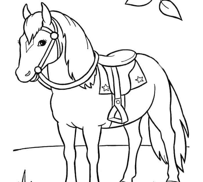 Big Horse Coloring Pages from 100+ Horse Coloring Pages