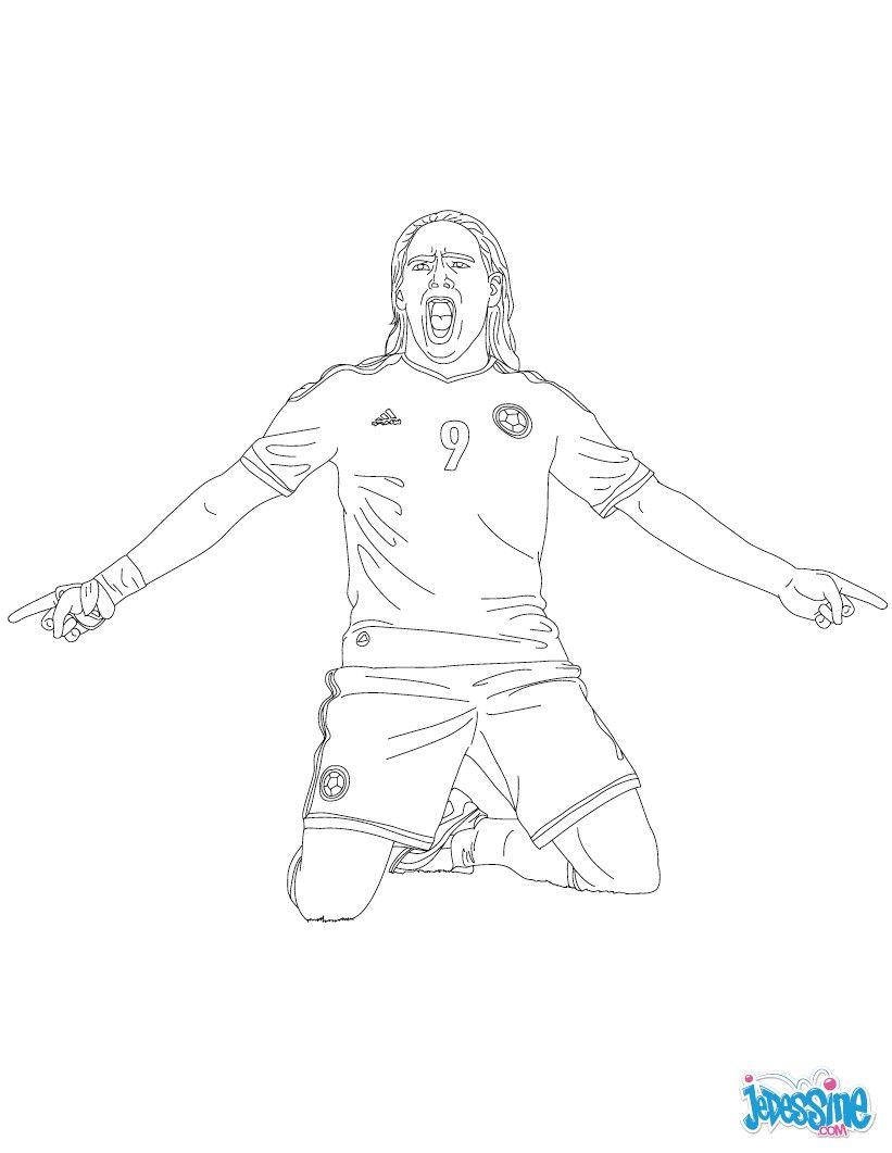 Coloriage du joueur de foot radamel falcao imprimer - Dessin de joueur de foot a imprimer ...