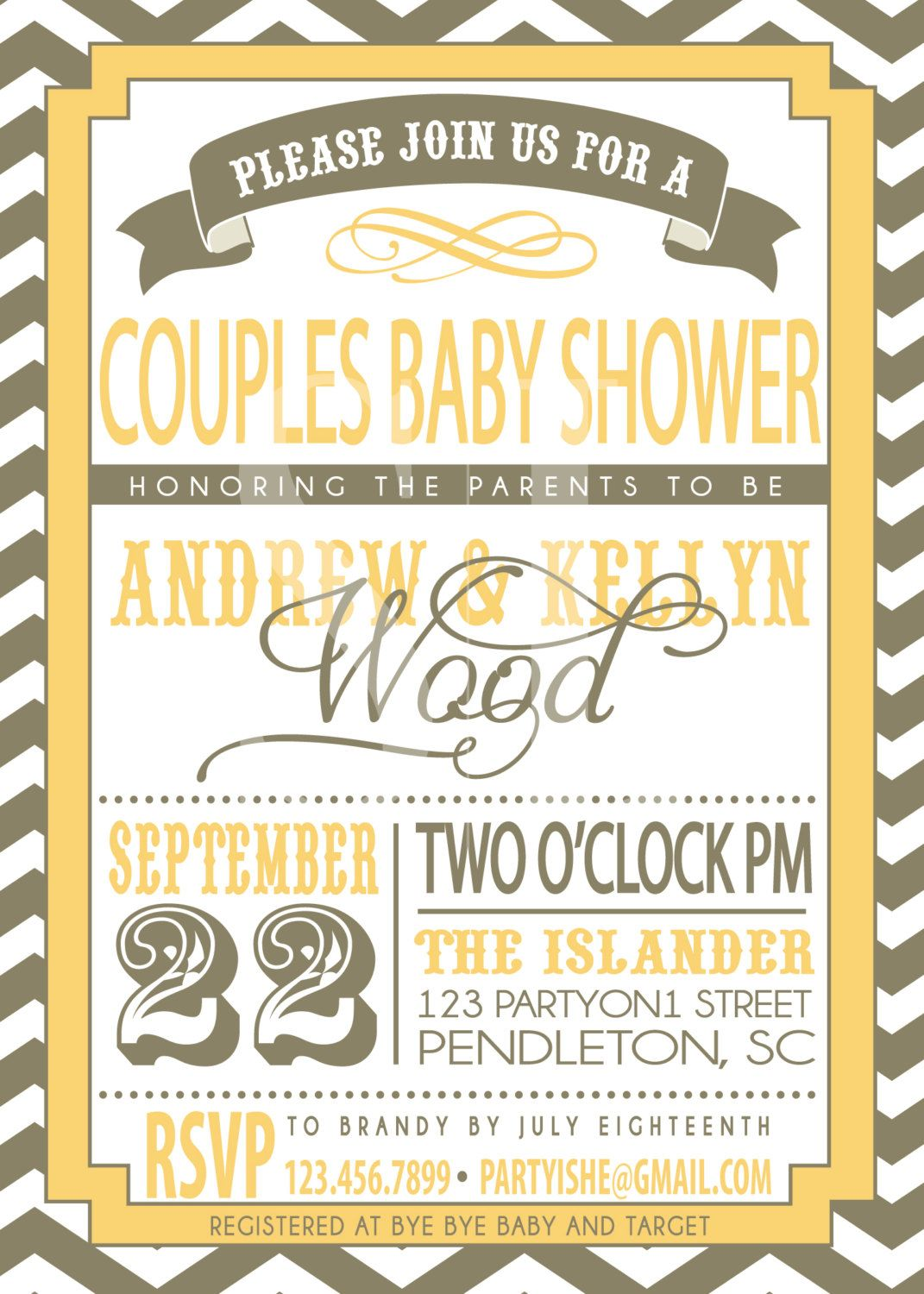 couple baby shower invitation