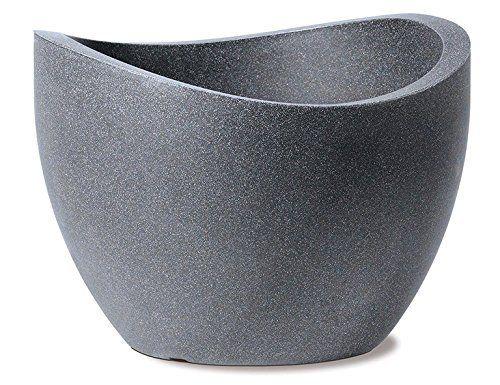 Scheurich Wave Globe, Pflanzgefäß aus Kunststoff, Schwarz