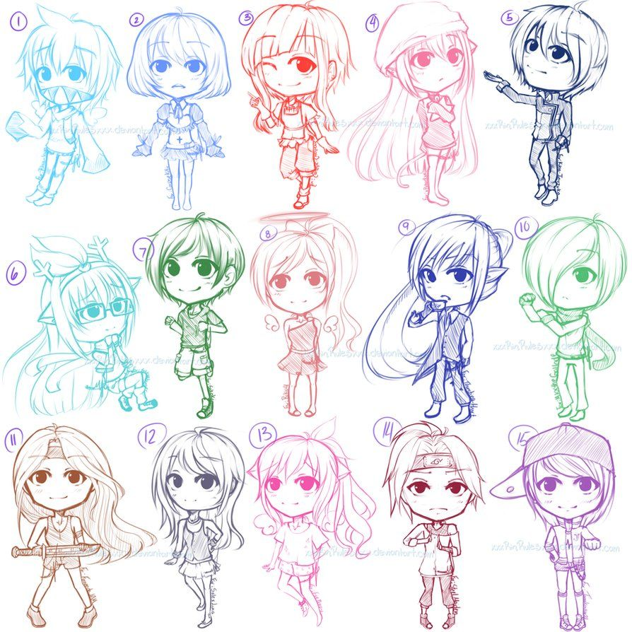 Chibi Sketch Requests for Watchers by xxxRinRulesxxx on