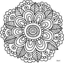 Resultado de imagen de mandalas para colorear faciles y bonitas