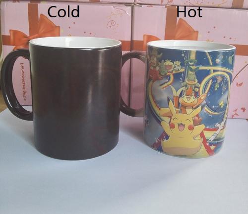 Pokemon Novelty Mug Heat Sensitive Changes to Character Images