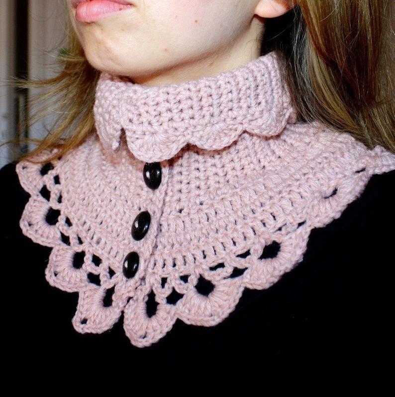 Crochet pattern victorian neck warmer english only etsy