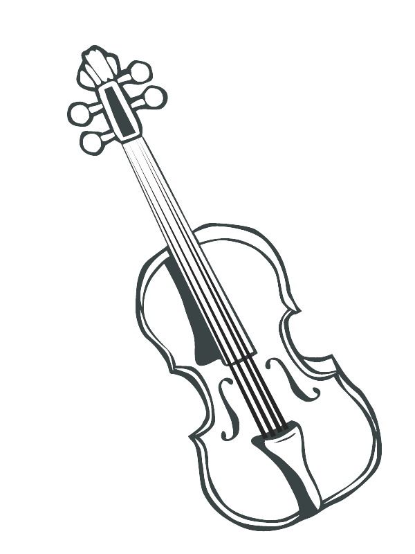 Coloring Page Musical Instruments