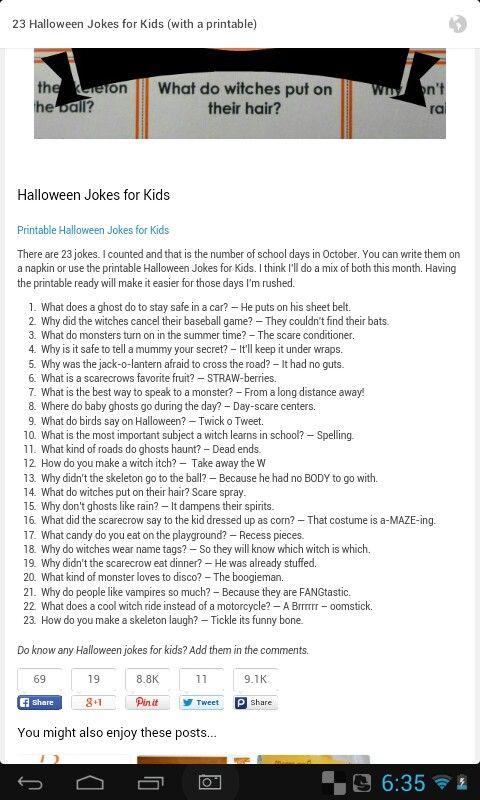 Halloween jokes