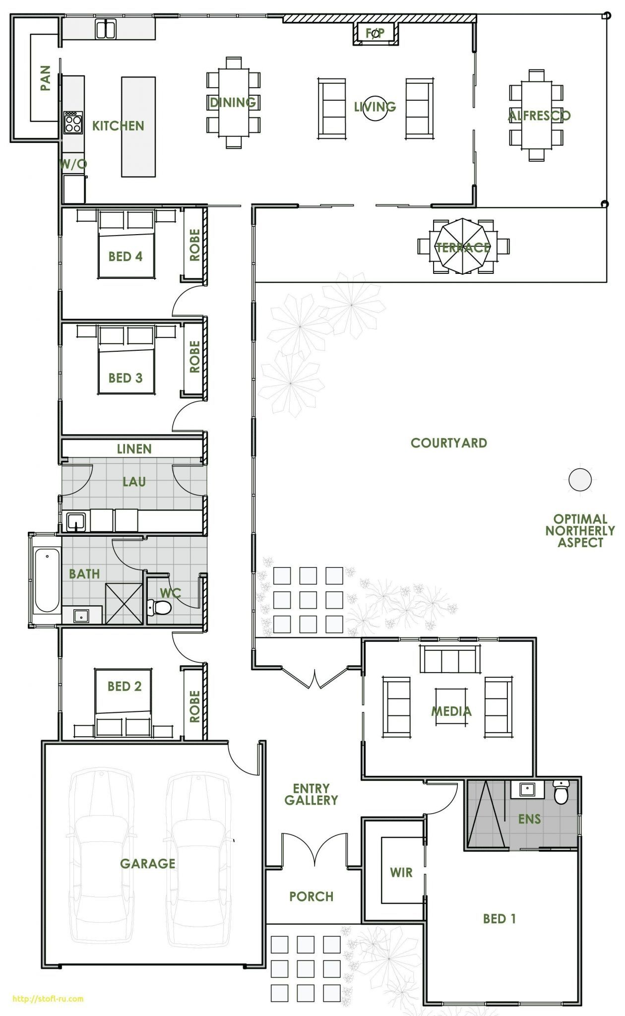 Plan 43011pf Beckoning Breezeway Country Style House Plans House Plans Bungalow House Plans
