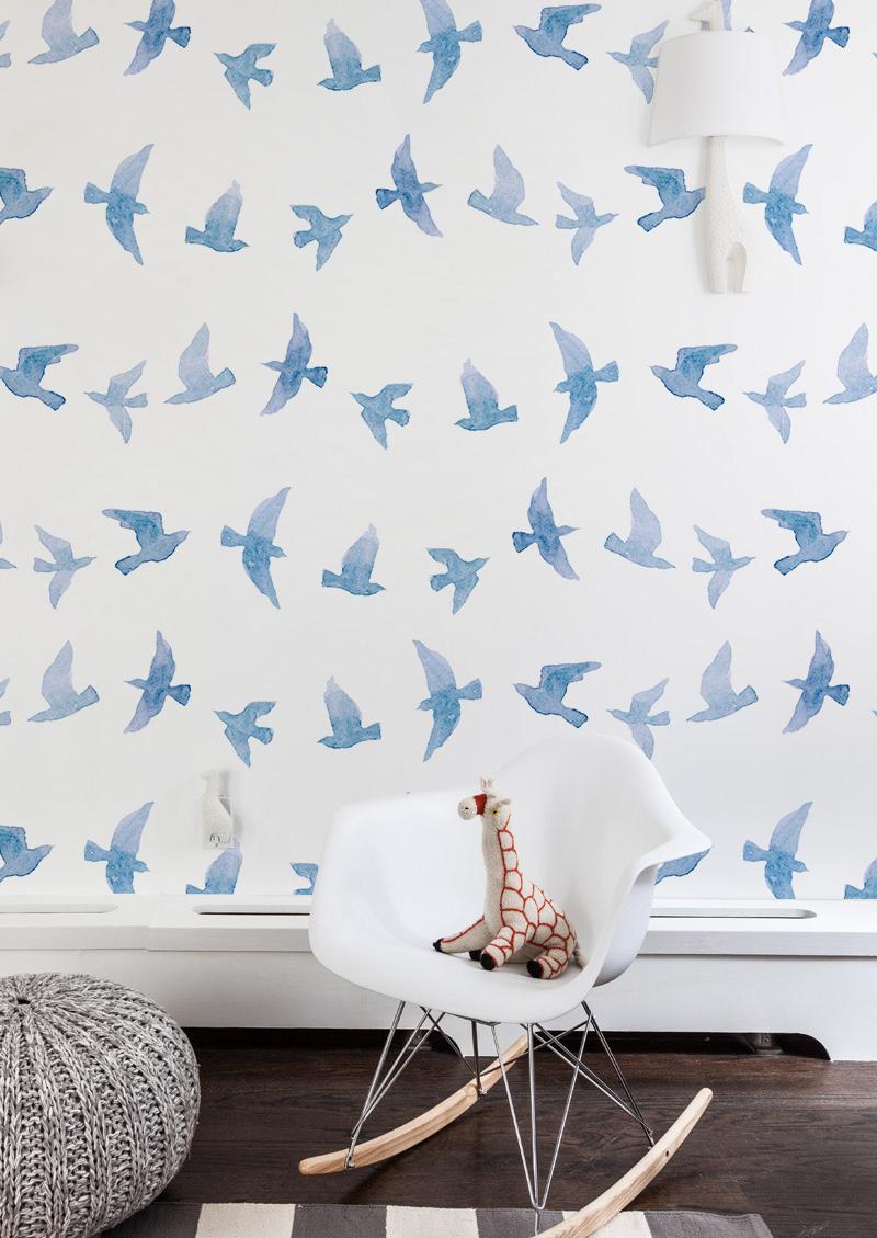 Flying Birds Removable Wallpaper Coloraydecor Com Beautiful Wall Decor Nursery Wall Decor Bird Wallpaper