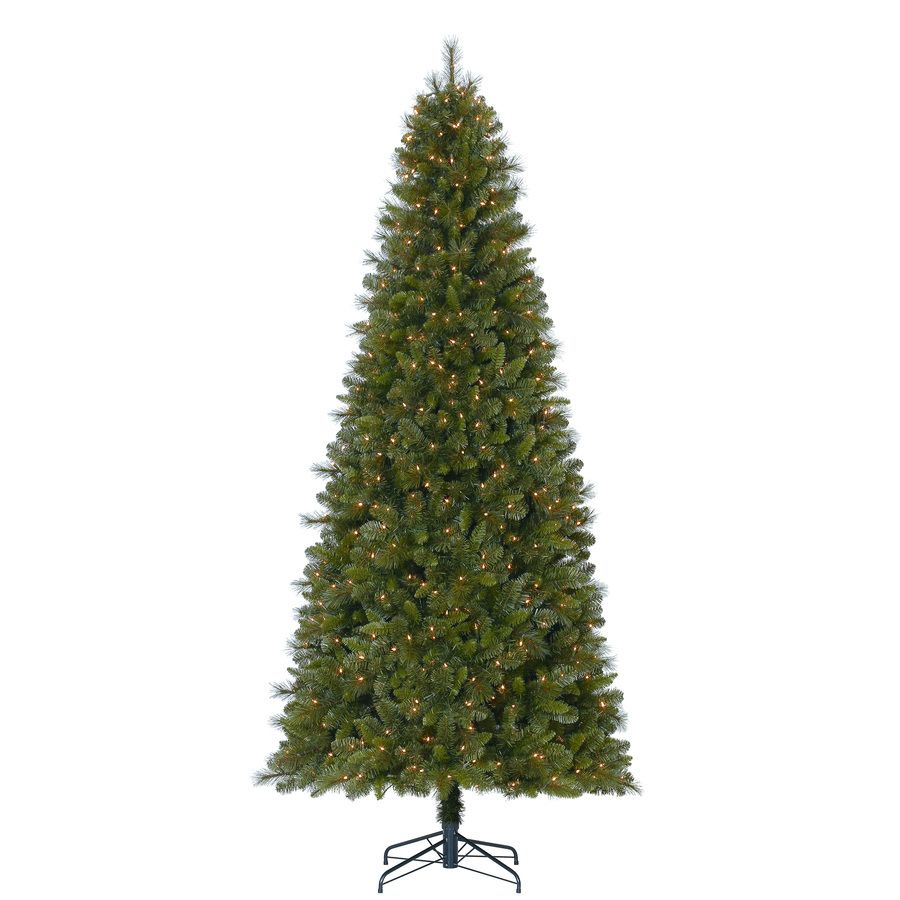 Holiday Living 9 Ft Pre Lit Traditional Artificial Christmas Tree With 700 Constant White Clear Incandescent Lights Lowes Com Artificial Christmas Tree Incandescent Lights Christmas Tree