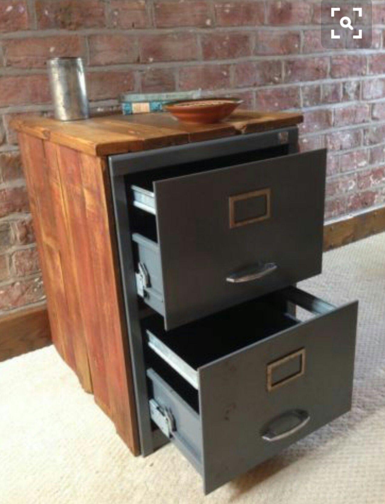 Diy File Cabinet Makeover Home Pinterest Bureau Projet  # Menuiserie Image Classeurs Et Meuble Tele