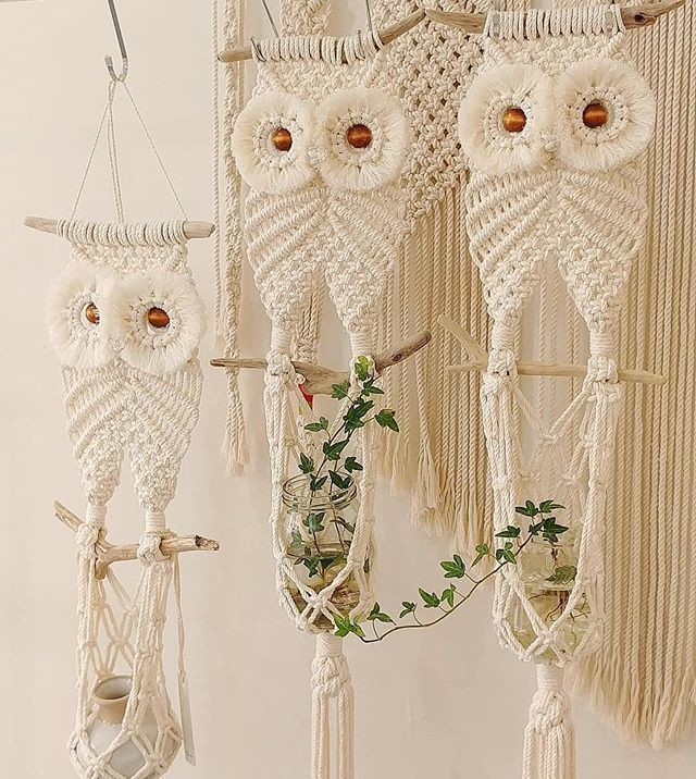 Work of @color_rope_macrame • • • • • . #macrame #macramewallart #muurhanger #macramewallhanging  #macramedesign #stylinginspiration… #macrame