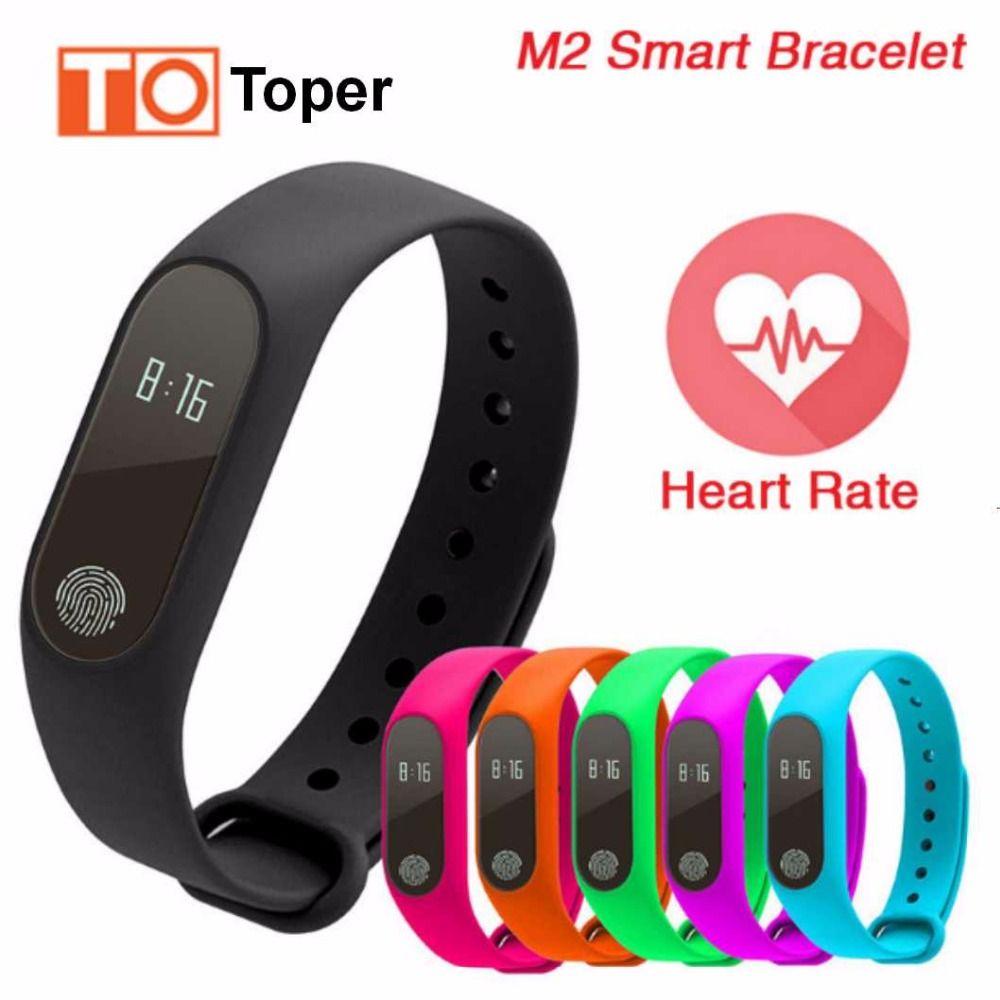 Jam Tangan Xiaomi Mi Band 2 Display Heart Rate Monitor Original M2 Health Bracelet Click To Buy Toper Smart Wristband Oled Screen Ip67 Waterproof