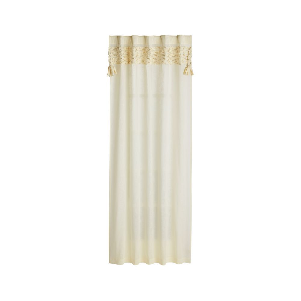 Fringe Natural 84 Curtain Natural Curtains Curtains Gold Curtain Rods