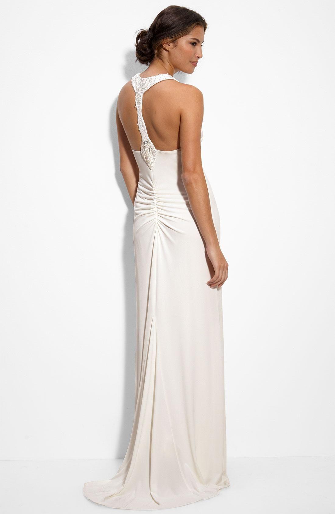 Long white halter chiffon evening dress dresses wedding