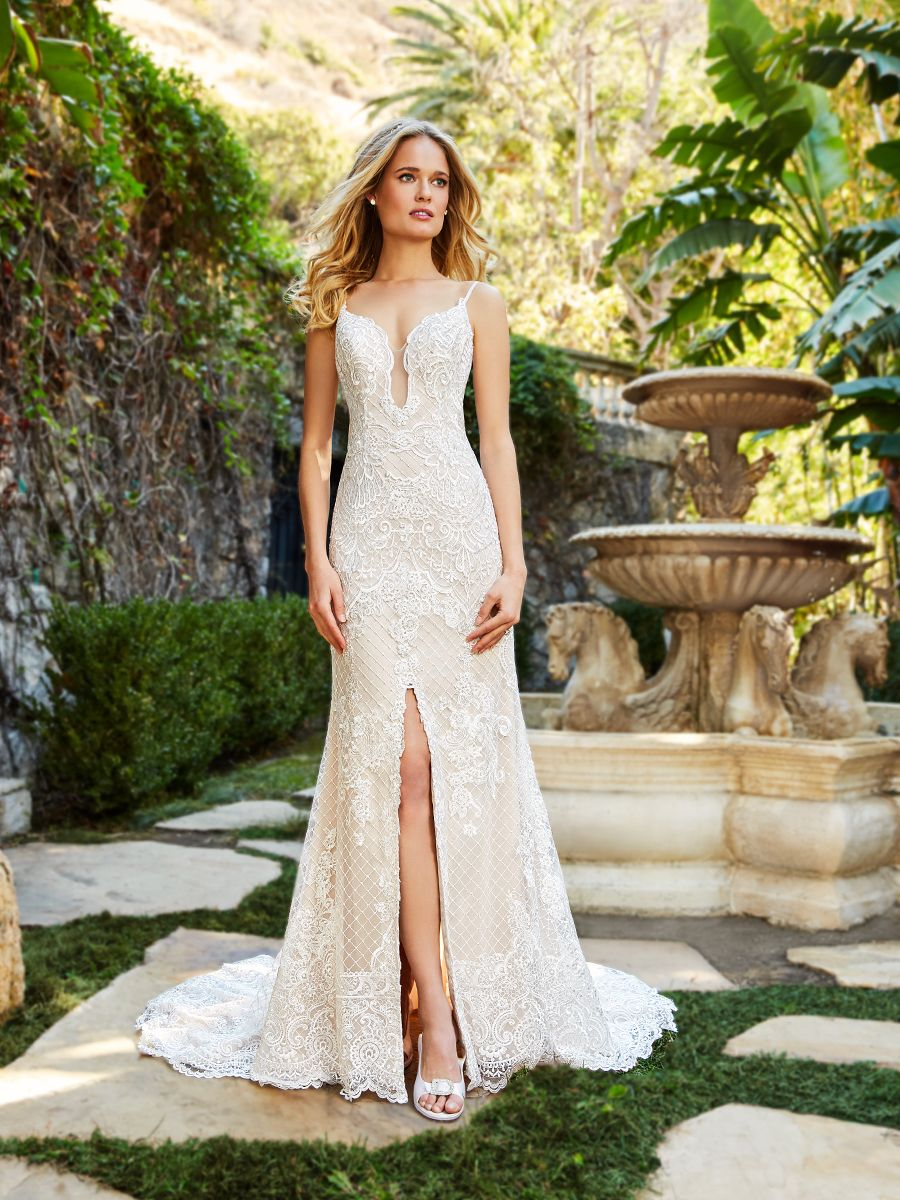 y Lace Mermaid Wedding Dress Moonlight Couture H1360