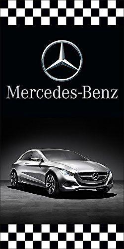 Mercedes benz auto dealer vertical avenue pole banner signs