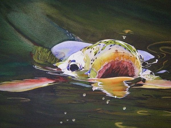 Flyfishing fine art by diane michelin articles fly for Fly fishing art