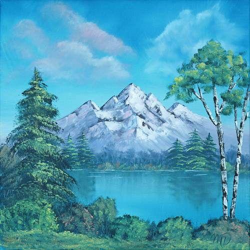 Mascha d ben schneeberg 2011 malerei l auf leinwand spiegelung berg - Einfache acrylbilder ...