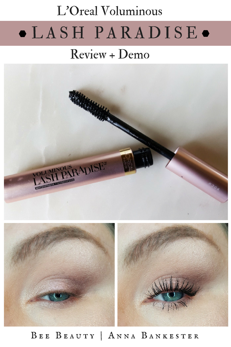 724c4ae7293 L'Oreal Voluminous Lash Paradise Review – Best Drugstore Mascara?! – Bee  Beauty #HowToPutOnMascara