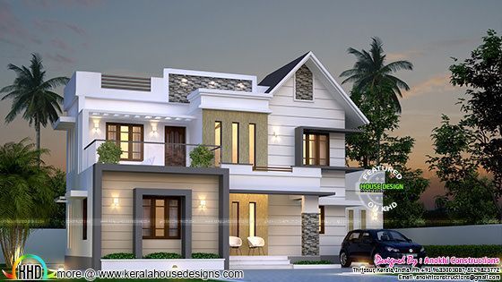 Simple And Elegant Villa Victorian House Plans House Plans With Photos Kerala House Design