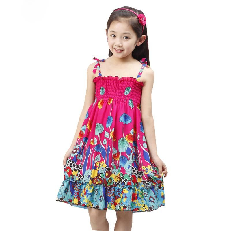 0362b1b6949dc Girls Dress For Girls Beach Dress 2018 Summer Hot Sale Bohemian ...