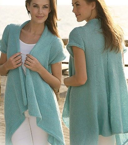 Draped Cardigan Knitting Patterns Knitting Pinterest Knitting