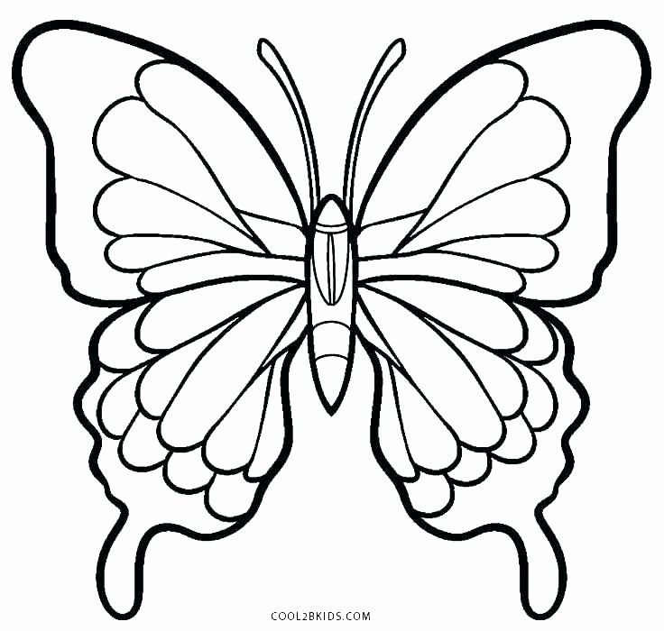 Simple Butterfly Coloring Page Luxury Butterfly Wings Coloring Pages At Getcolorings Butterfly Coloring Page Butterfly Printable Flower Coloring Pages