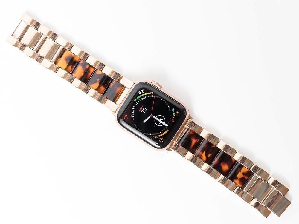 New Tortoiseshell Metal Band For The Apple Watch Apple Watch Accessories Apple Watch Apple Watch Strap
