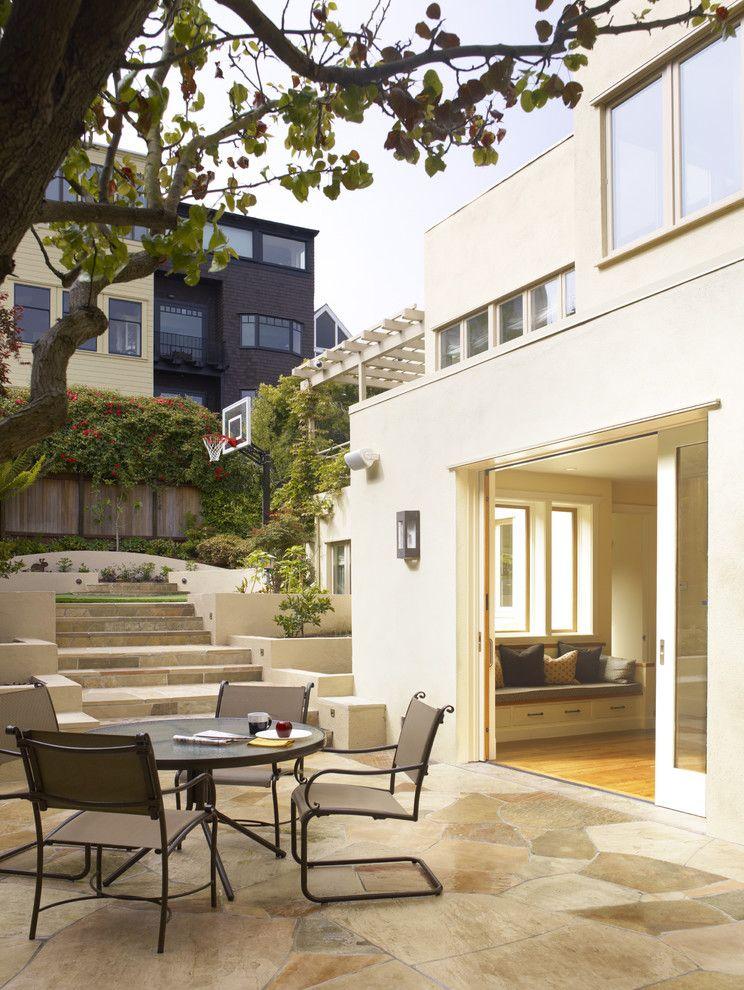 exterior pocket doors traditional patio nice veranda cream house ...