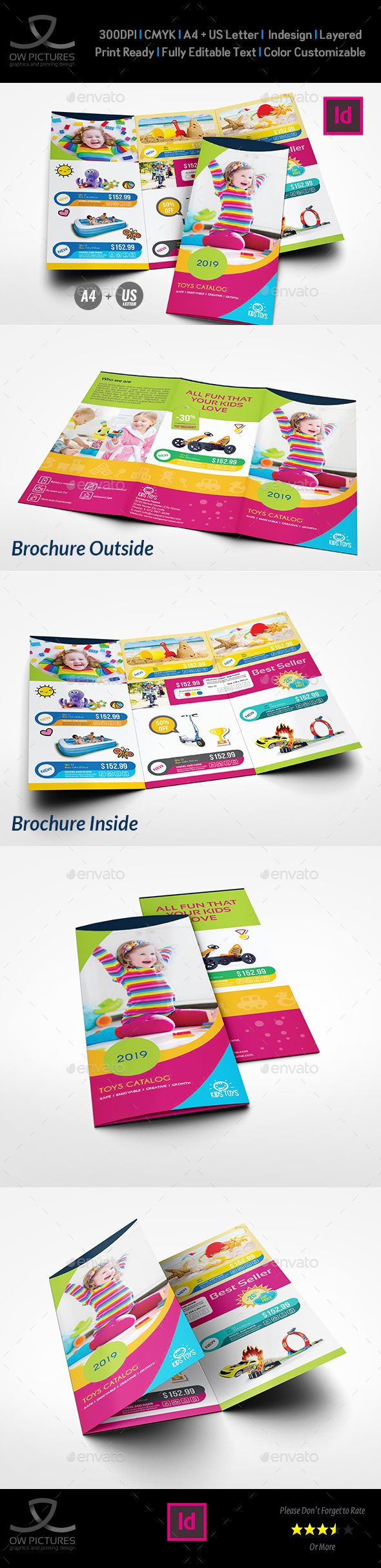 toys products catalog tri fold brochure template brochure