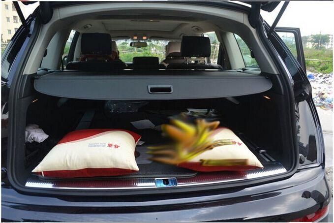 High Quality Rear Trunk Screen Cargo Privacy Cover Trunk Screen For Audi Q7 2006 2009 2010 2015 Black Beige Audi Q7 Audi Interior Accessories