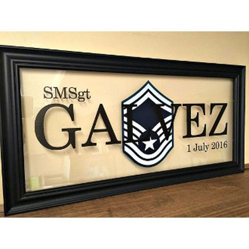 Air Force Personalized Gift, Airforce wall frame, USAF Gift idea ...