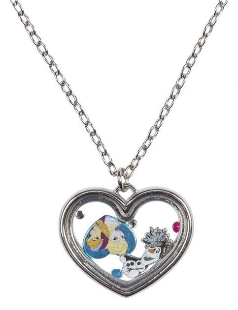 Disney Frozen Elsa /& Anna BFF Necklace Shaker Heart Pendant Best Friends Bestie