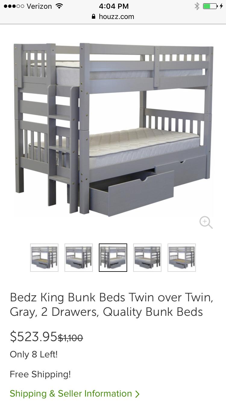 Low loft bed twin  Houzz  low bunk beds ladder at foot  Надо попробовать
