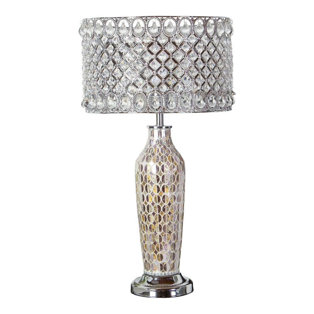 Silver Mosaic Table Lamp Base