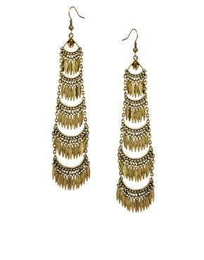 River Island Tiered Chandelier Earrings   Accessories   Pinterest ...
