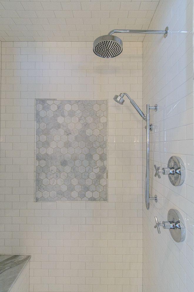 Hex Shower Accent Tile Tasha B Davis Interiors Llc Shower