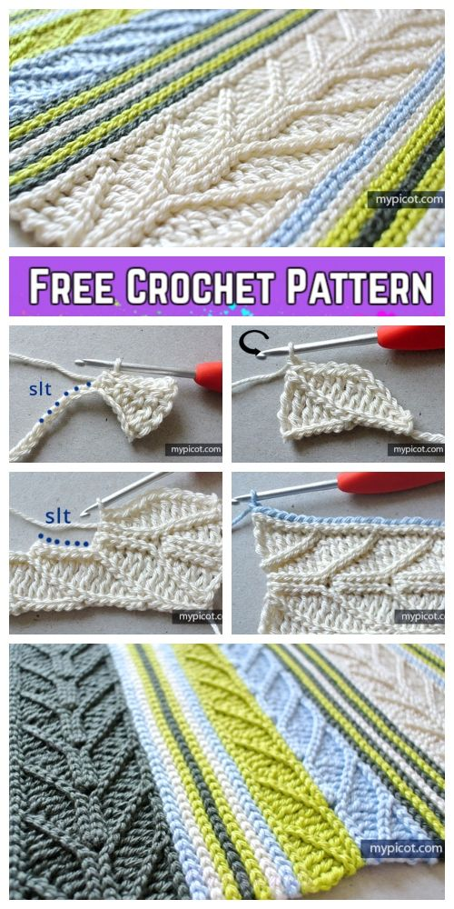 Crochet Slip Stitch Free Crochet Pattern Stitch غرز كروشيه