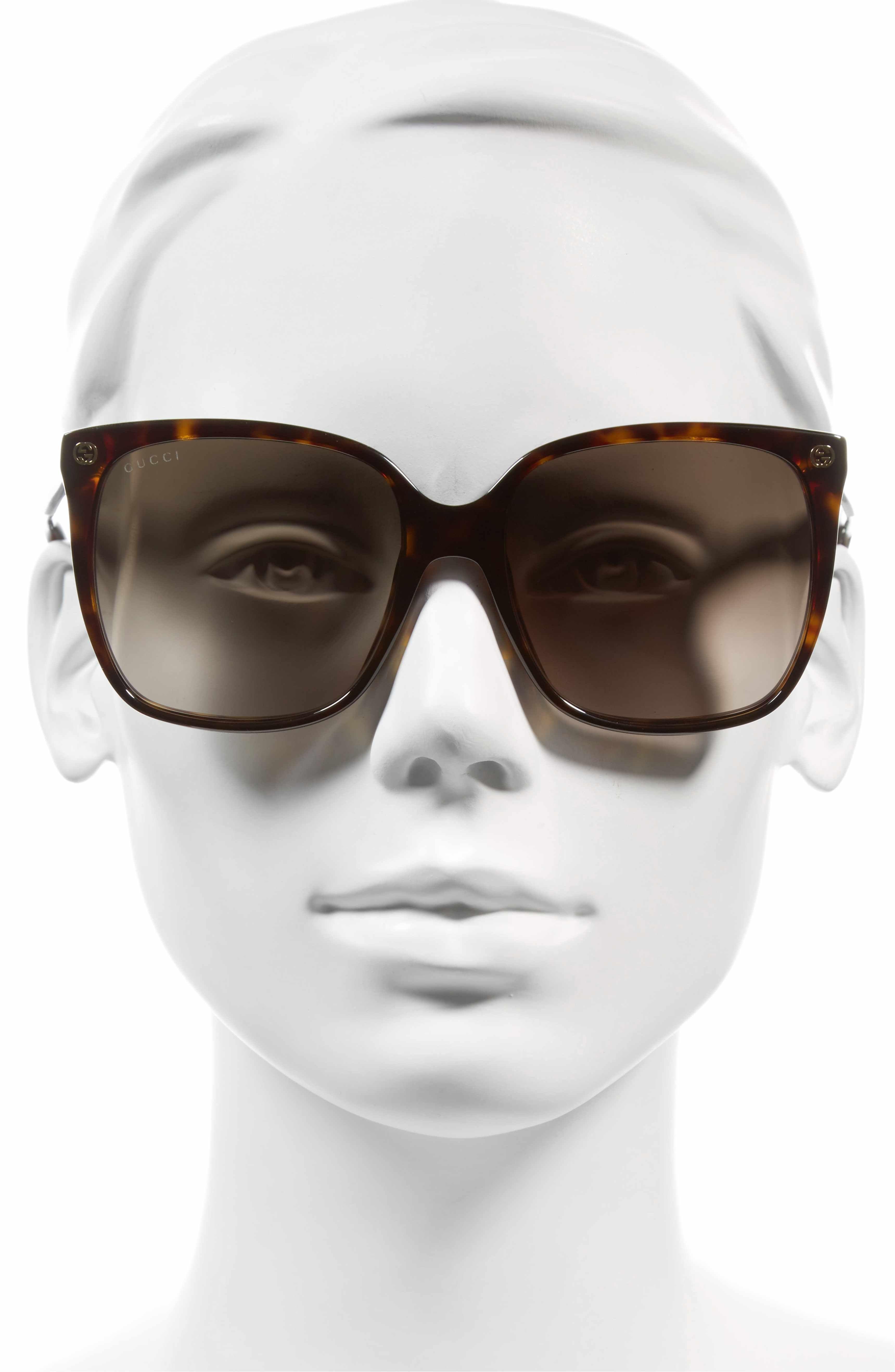 b88e361f2 Main Image - Gucci 57mm Square Sunglasses | sunshades | Sunglasses ...