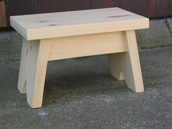 Pine Step Stool Unfinished Foot Stool Small Bench Wooden Step Stool Wood Step Stool Step Stool